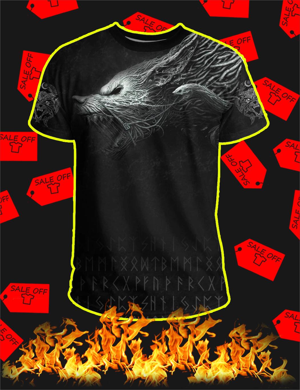 Viking Fenrir All Over Print T-shirt