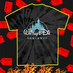 Waiting to Die Tie Dye T-Shirt - Spider Black