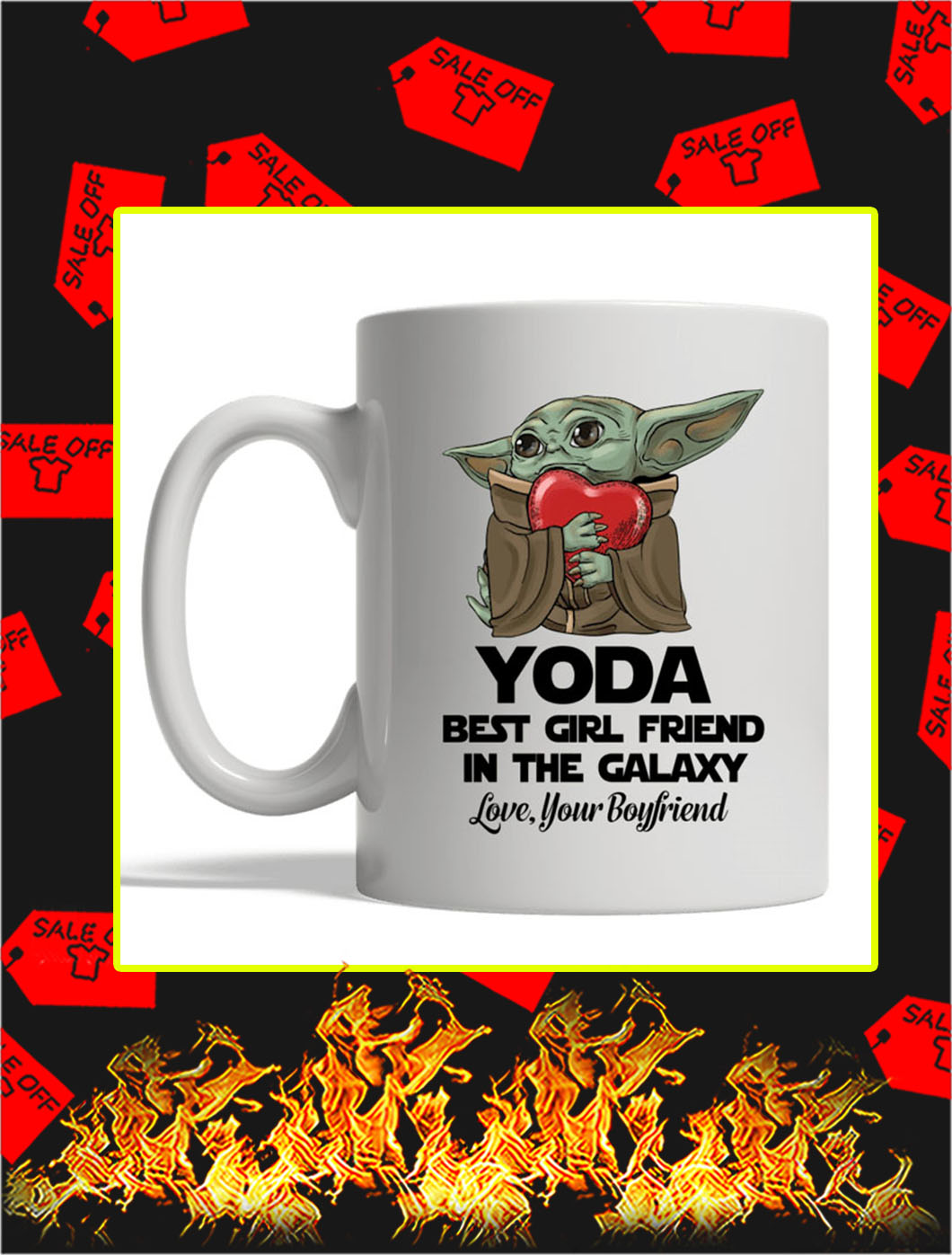 Yoda Best Girl Friend In The Galaxy Love Your Boyfriend mug