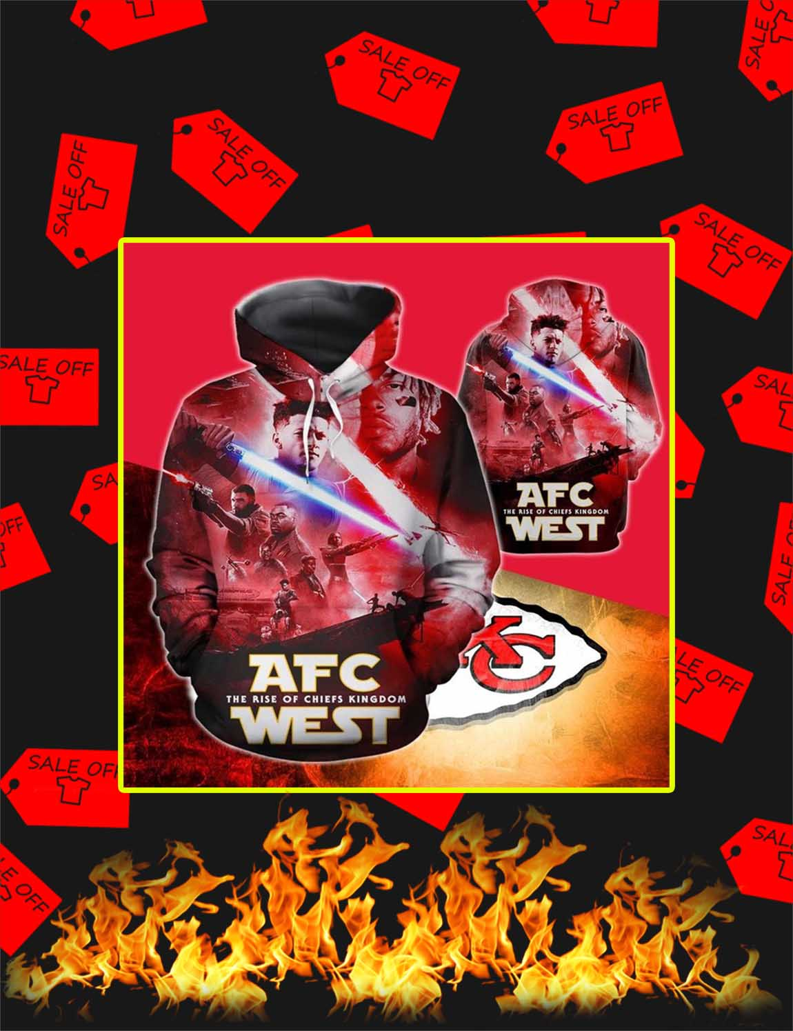 AFC The Rise Of Chiefs Kingdom West 3D Hoodie