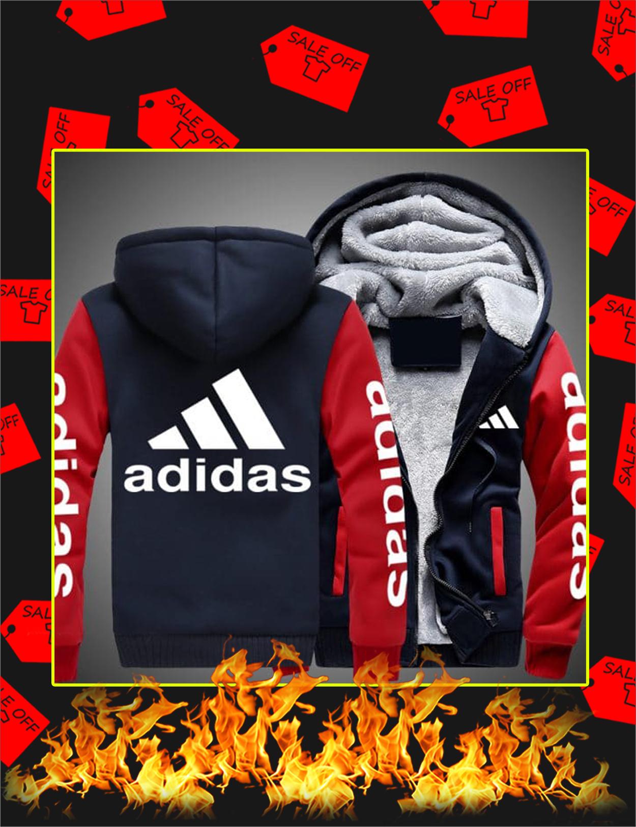 Adidas Fleece Hoodie - Red