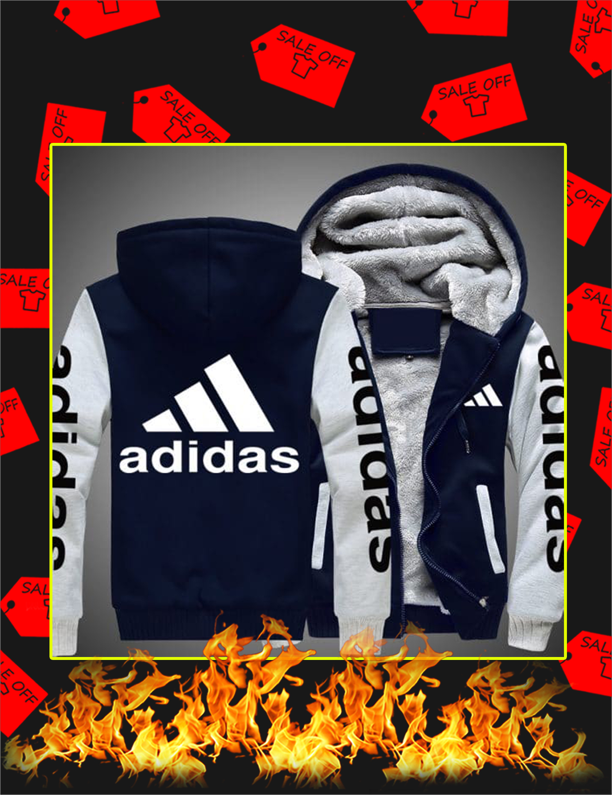 Adidas Fleece Hoodie - White