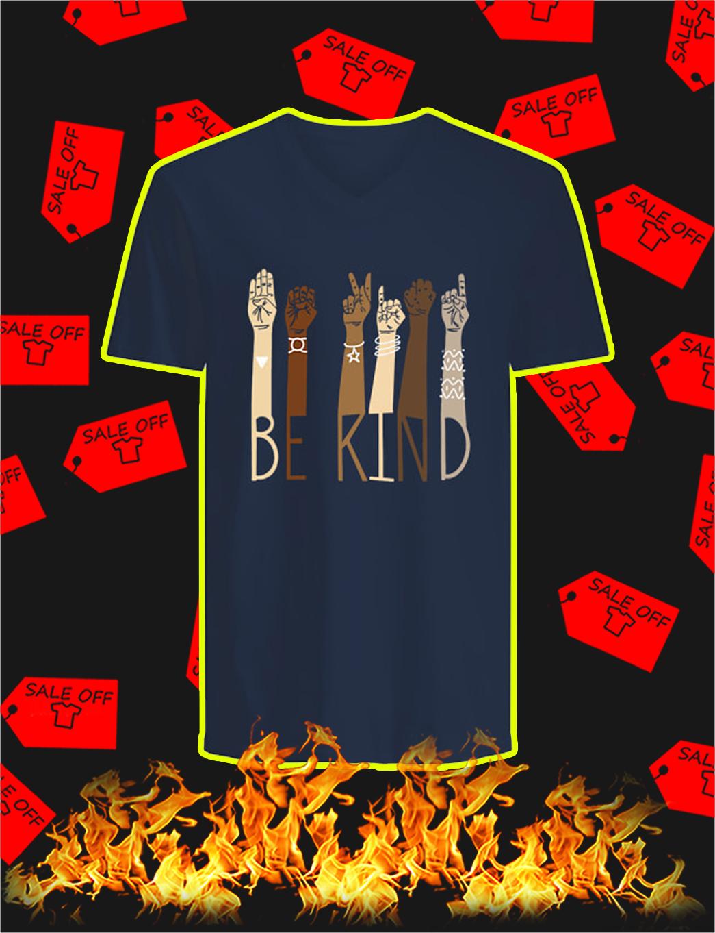 Be Kind Sign Language v-neck