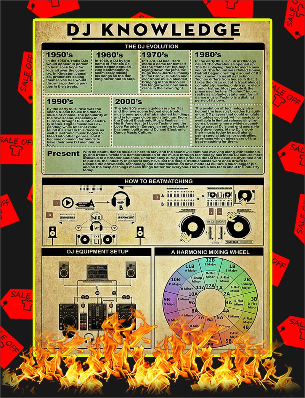 DJ Knowledge Poster - A3