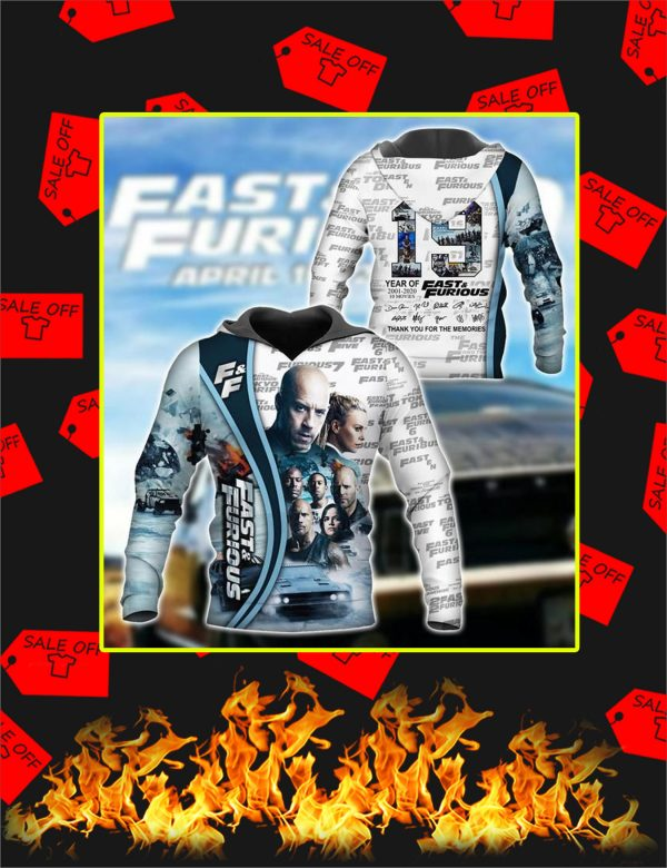 Fast And Furious 3D Hoodie