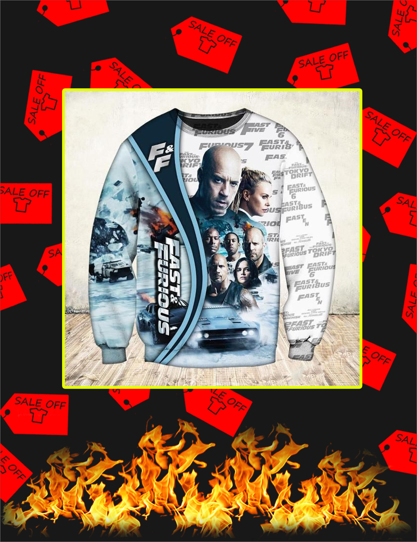 Fast And Furious 3D Sweatshirt