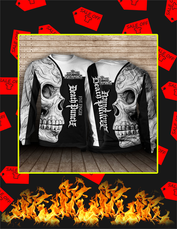 Five Finger Death Punch Skull 3D Long Sleeve Tee