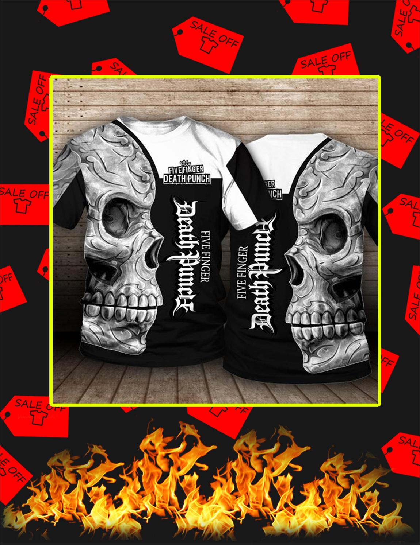 Five Finger Death Punch Skull 3D T-shirt