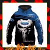Ford Go Futher Punisher Skull 3D Hoodie