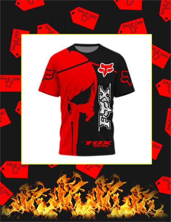 Fox Racing Red Punisher Skull 3D Shirt
