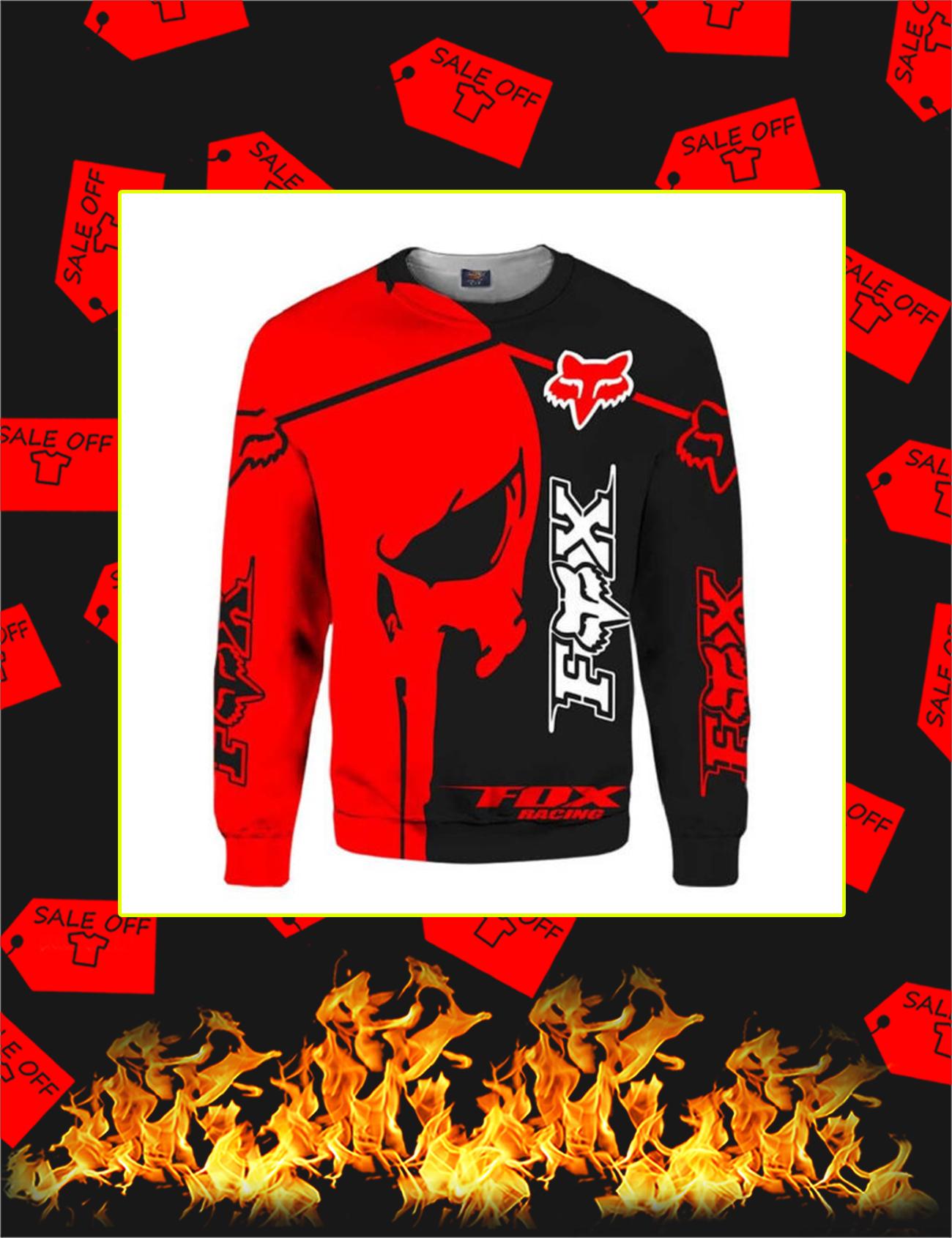 Fox Racing Red Punisher Skull 3D Sweatshirt