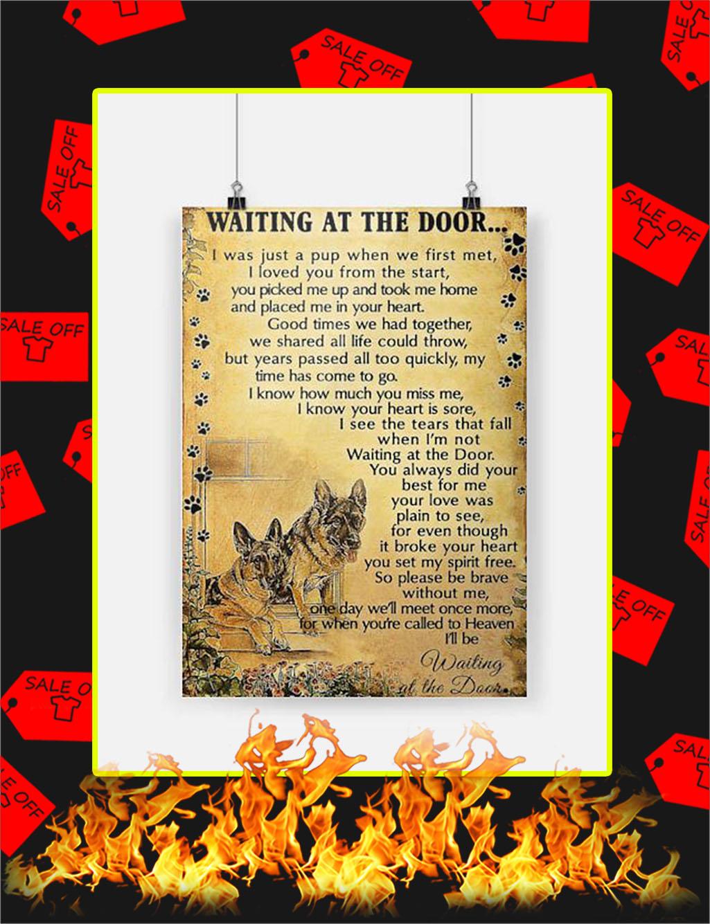German Shepherd Waiting At The Door Poster - A4