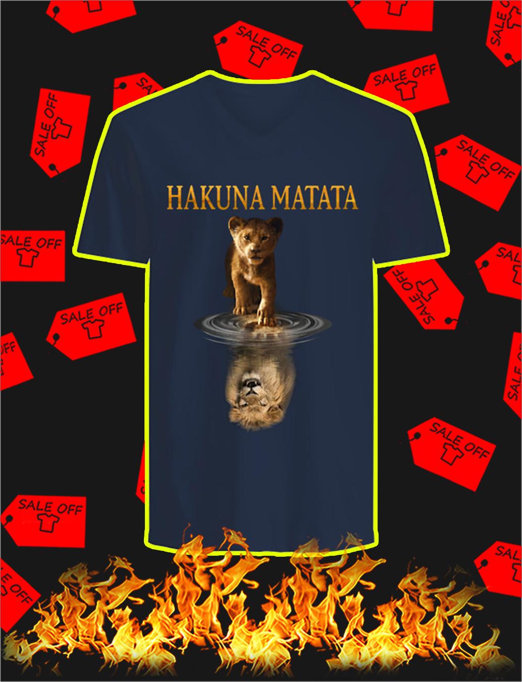 Hakuna Matata Lion King Mirror Reflection v-neck
