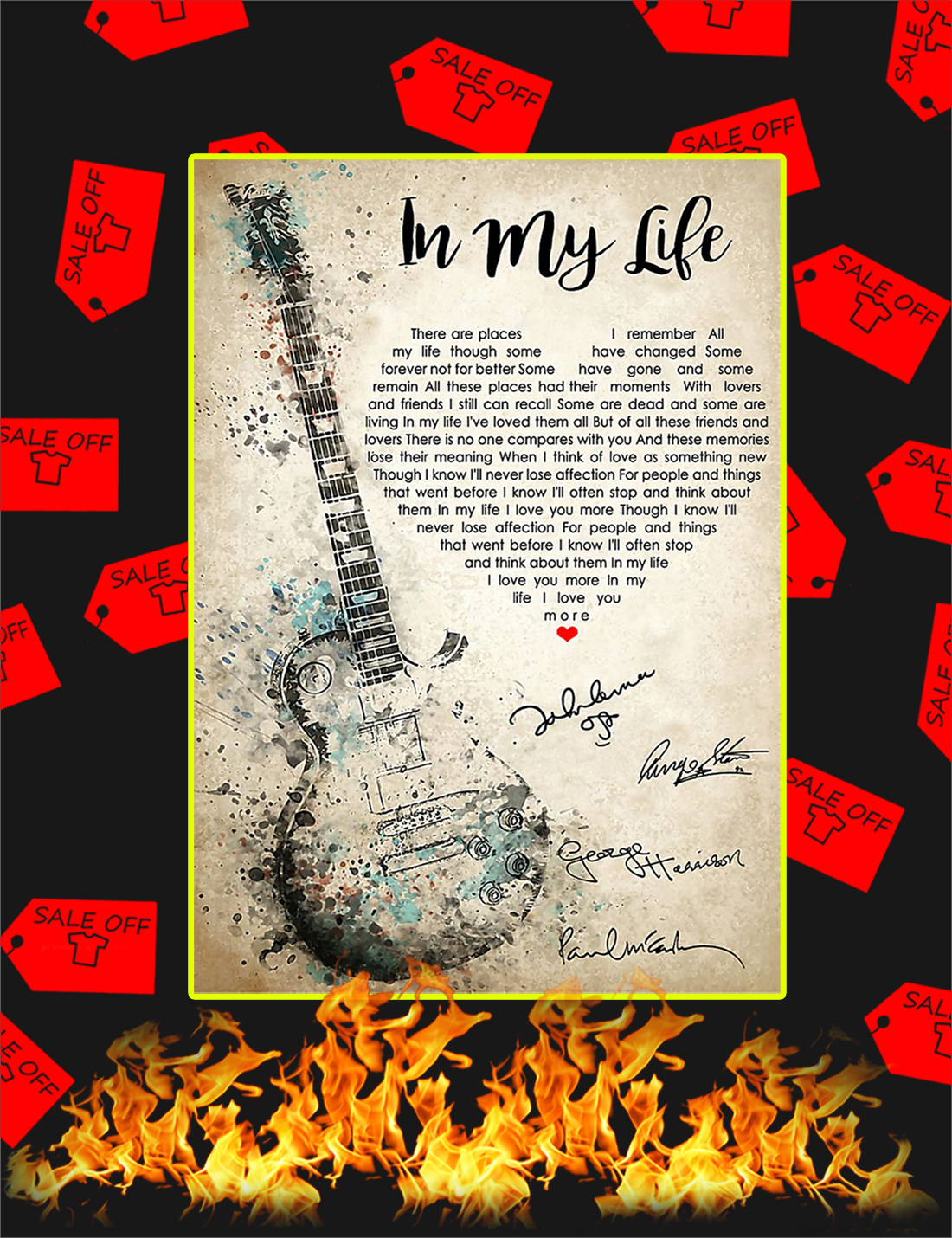 In My Life Poster - Poster A3