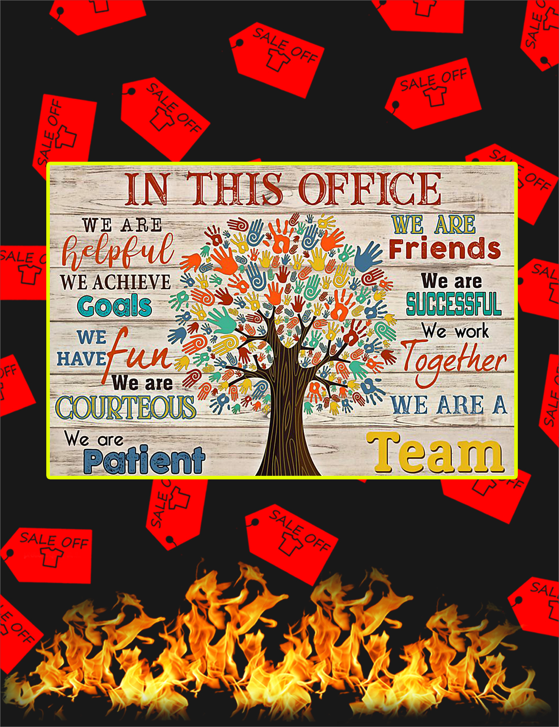 In This Office Social Worker Tree Poster - Poster A4