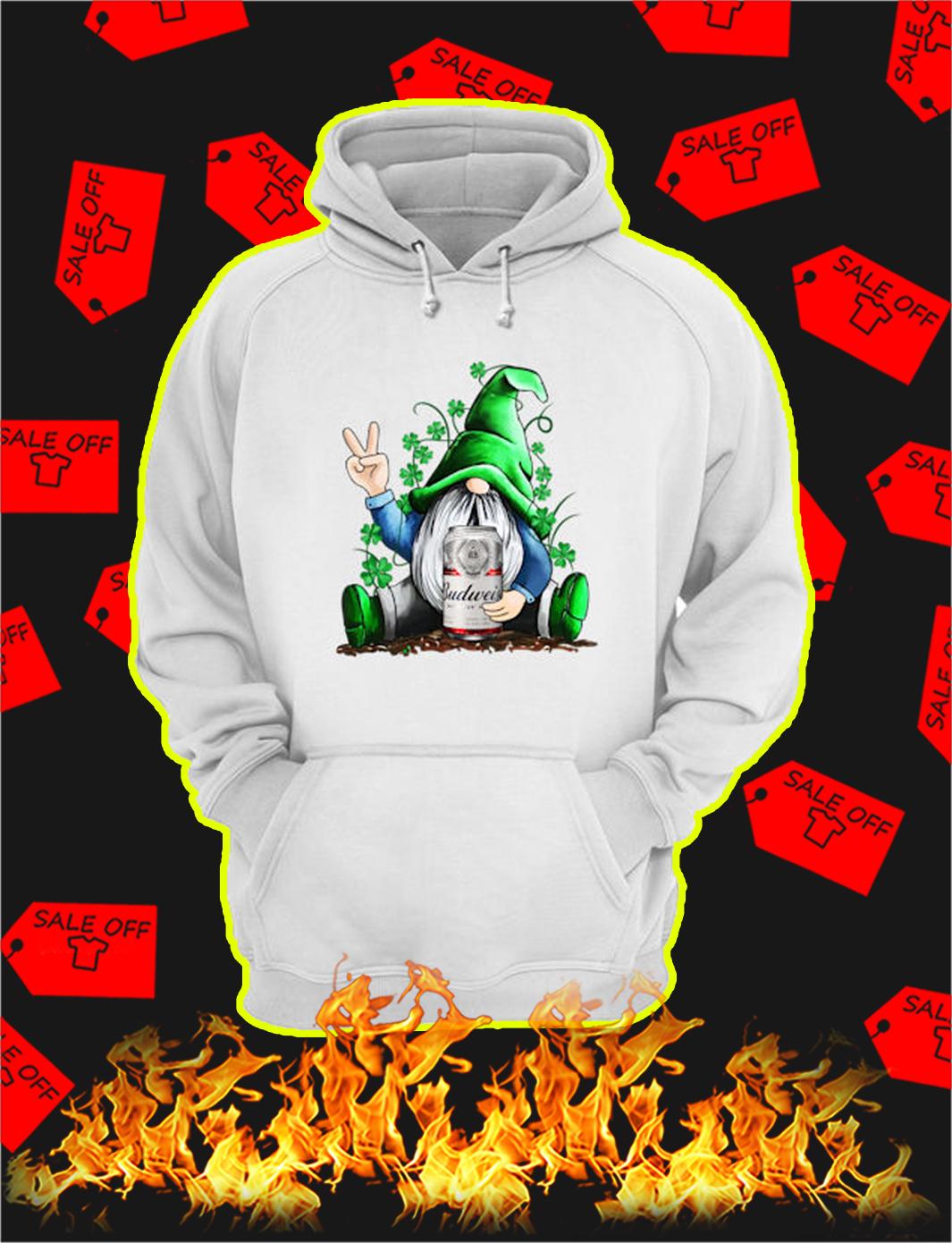 Irish Gnome Hug Budweiser St Patrick's Day hoodie