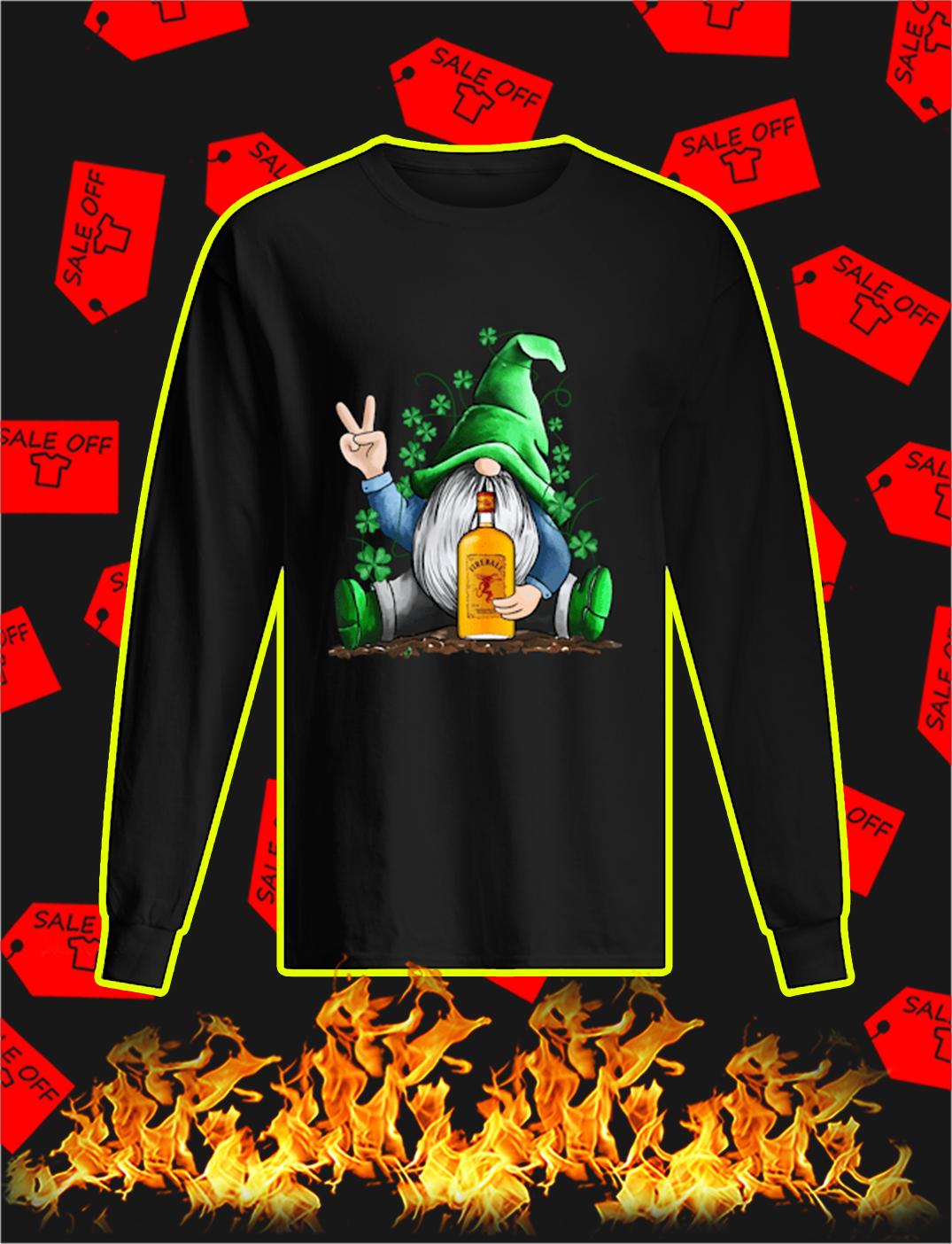 Irish Gnome Hug Fireball Cinnamon Whisky St Patrick's Day longsleevee tee