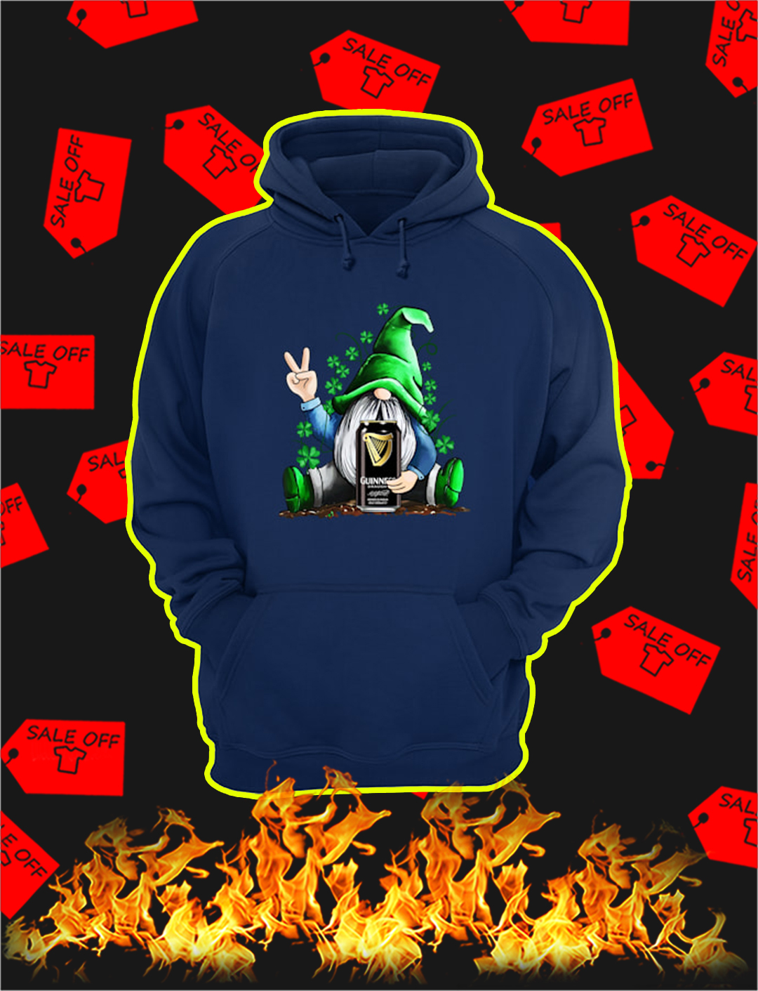 Irish Gnome Hug Guinness St Patrick's Day hoodie