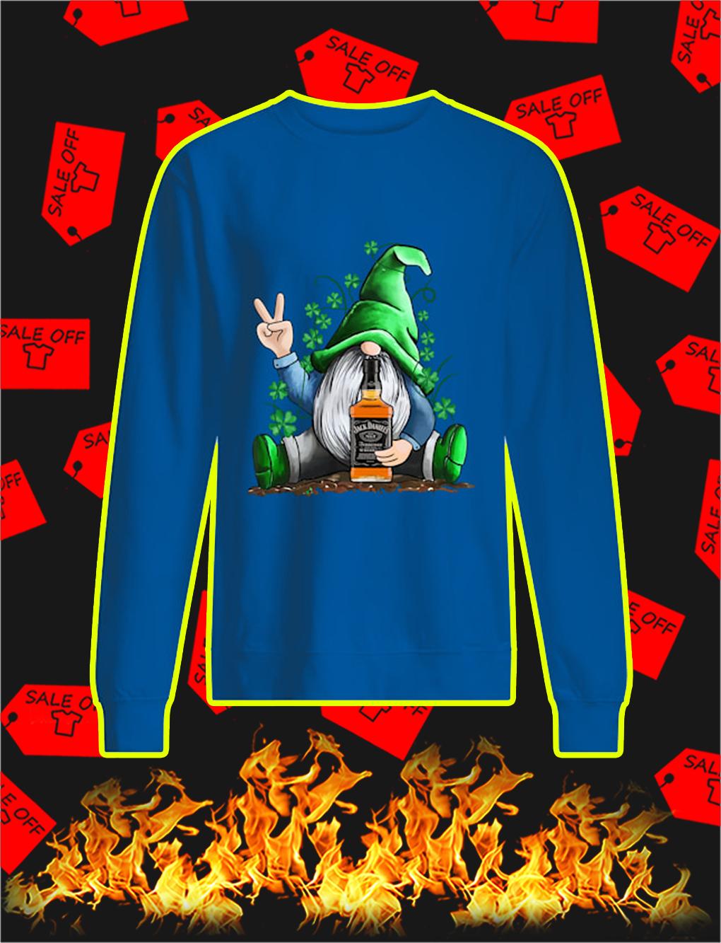 Irish Gnome Hug Jack Daniel's St Patrick's Day sweatshirt