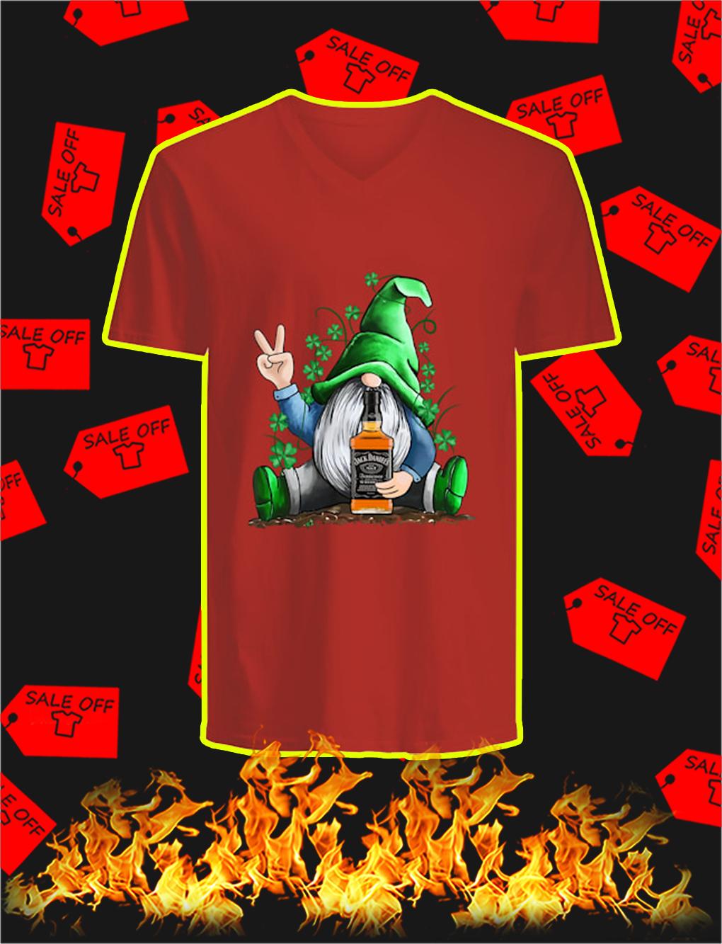 Irish Gnome Hug Jack Daniel's St Patrick's Day v-neck