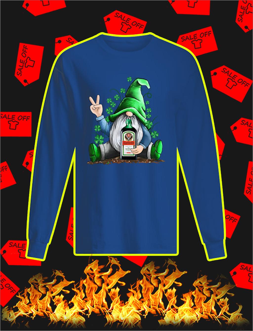 Irish Gnome Hug Jagermeister St Patrick's Day longsleeve tee