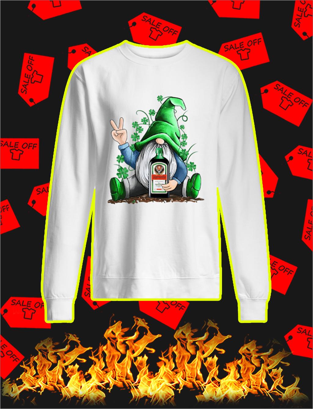 Irish Gnome Hug Jagermeister St Patrick's Day sweatshirt