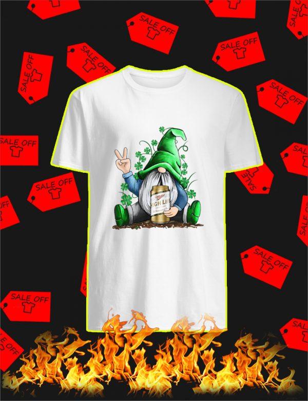 Irish Gnome Hug Miller High Life St Patrick's Day Shirt