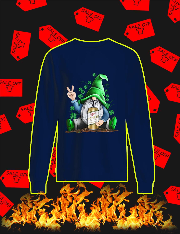 Irish Gnome Hug Miller High Life St Patrick's Day Sweatshirt