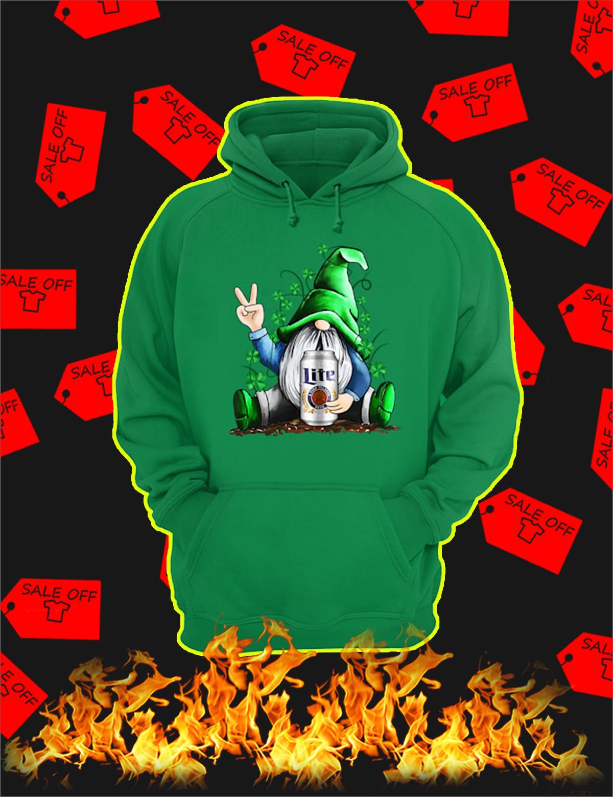 Irish Gnome Hug Miller Lite St Patrick's Day Hoodie