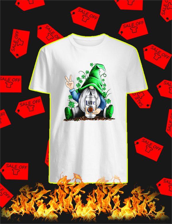 Irish Gnome Hug Miller Lite St Patrick's Day Shirt