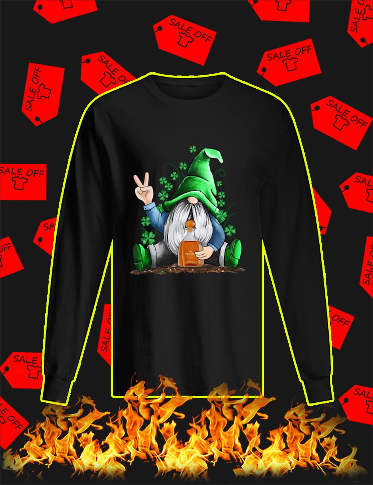 Irish Gnome Hug Patron St Patrick's Day Long Sleeve Tee