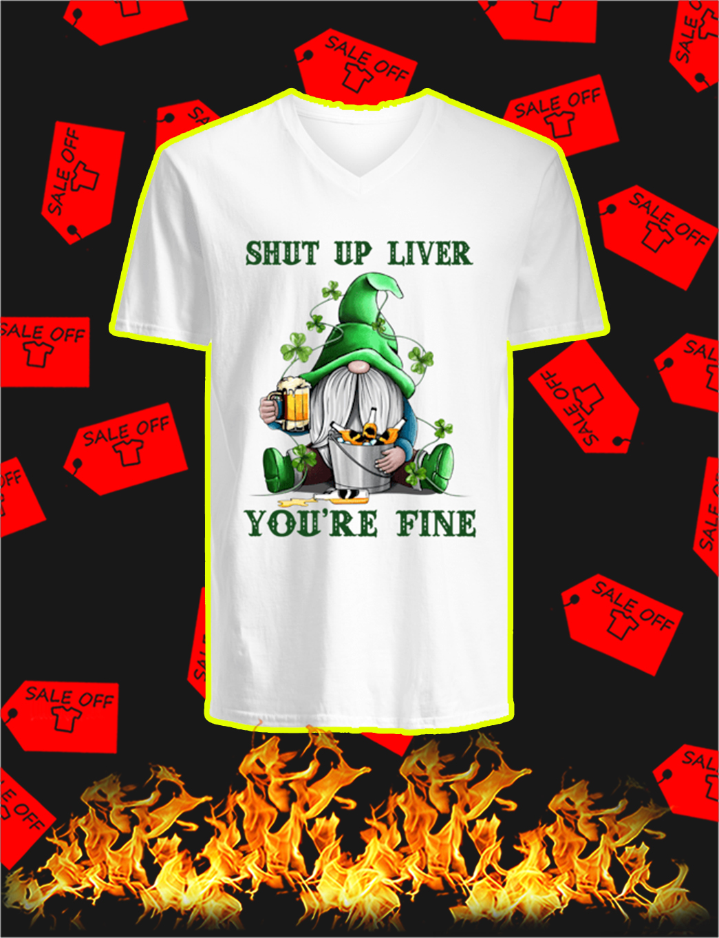 Irish Gnome Shut Up Liver You're Fine v-neck
