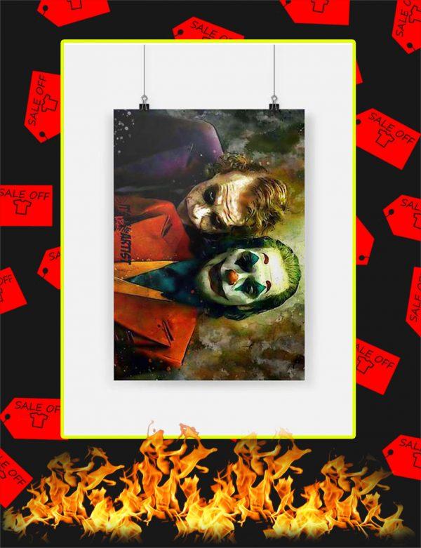 Joker Joaquin Phoenix and Heath Ledger Poster