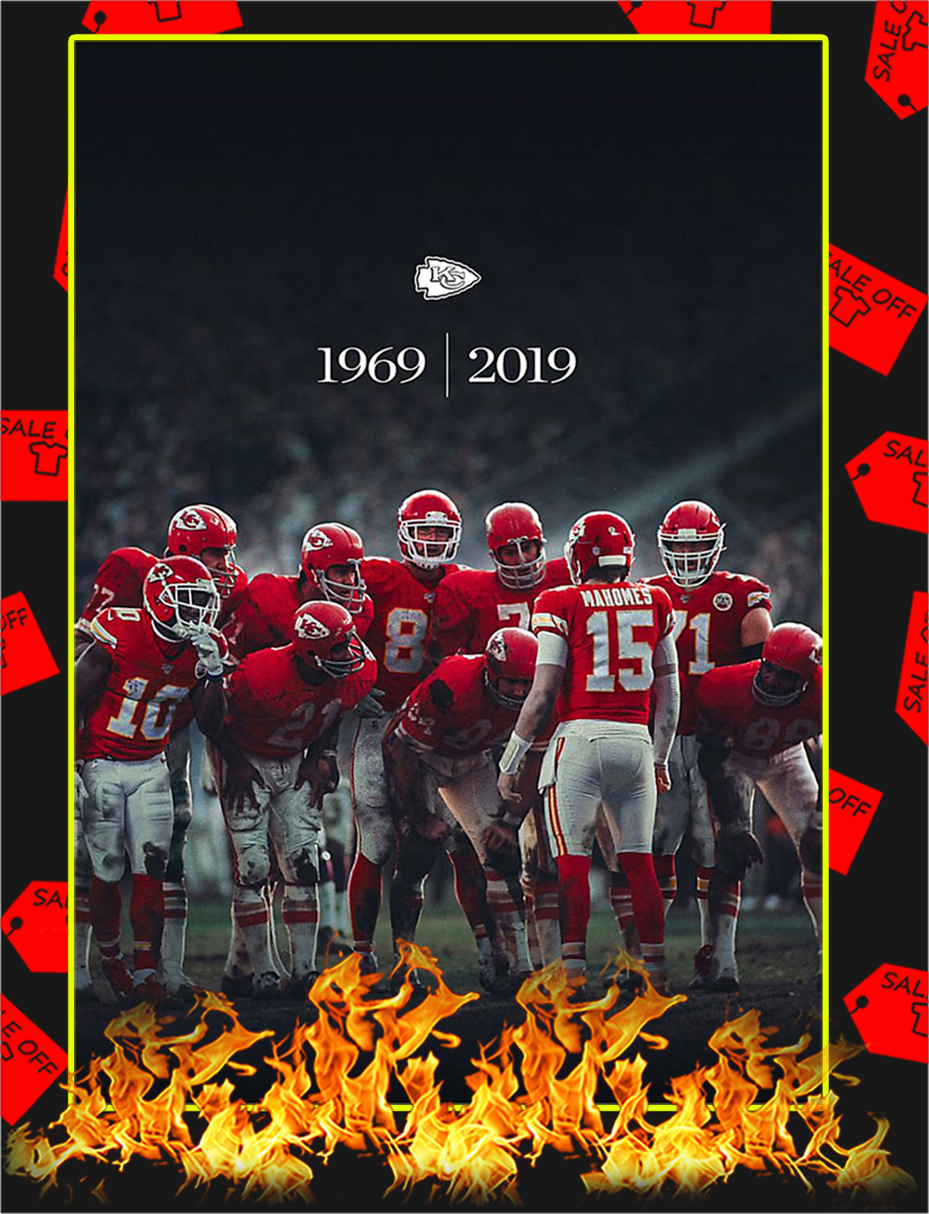 Kansas City Chiefs 1969 2019 Poster - A2