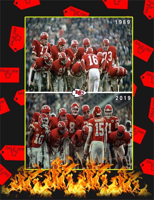 Kansas City Chiefs 1969 2019 Super Bowl Poster