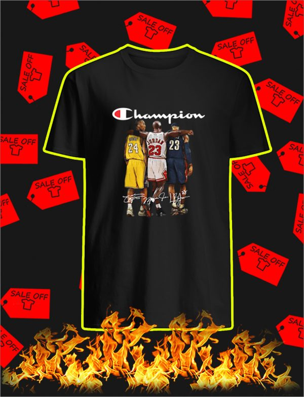 Kobe Bryant Michael Jordan LeBron James shirt