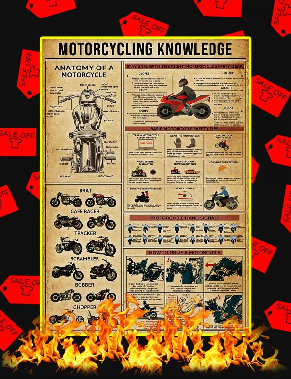 Motorcycling Knowledge Poster