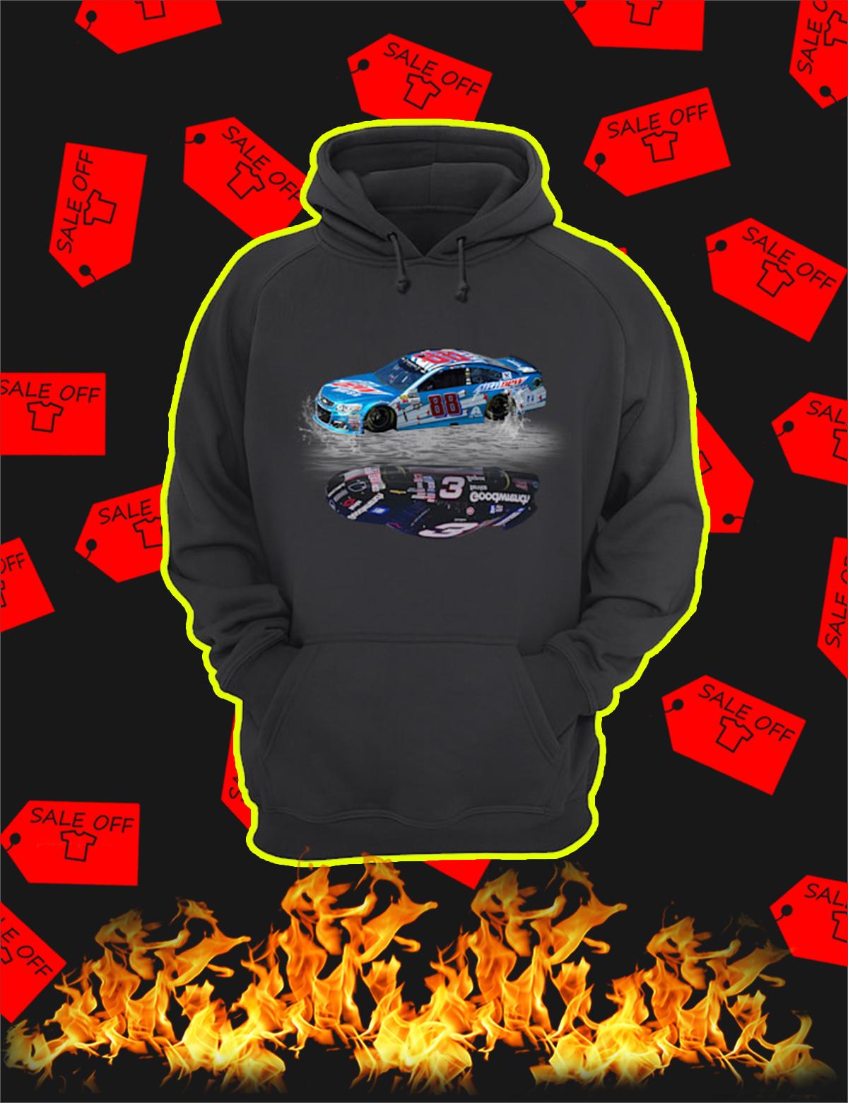 Nascar Car Number 88 Reflection Car Number 3 Hoodie