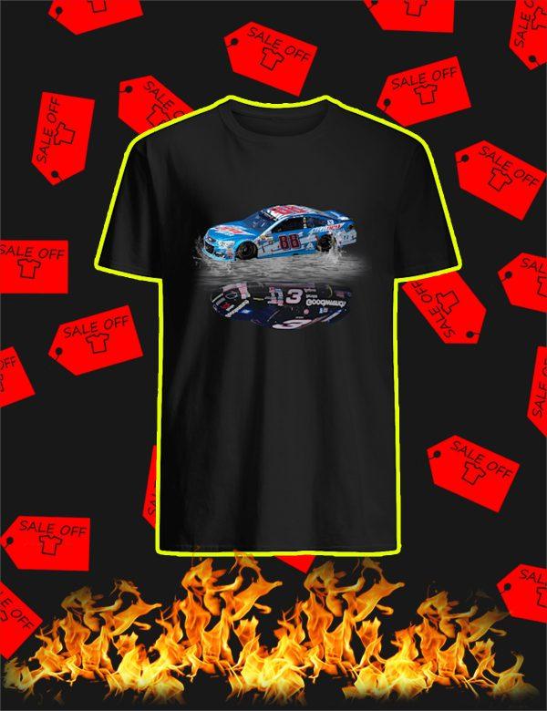 Nascar Car Number 88 Reflection Car Number 3 Shirt