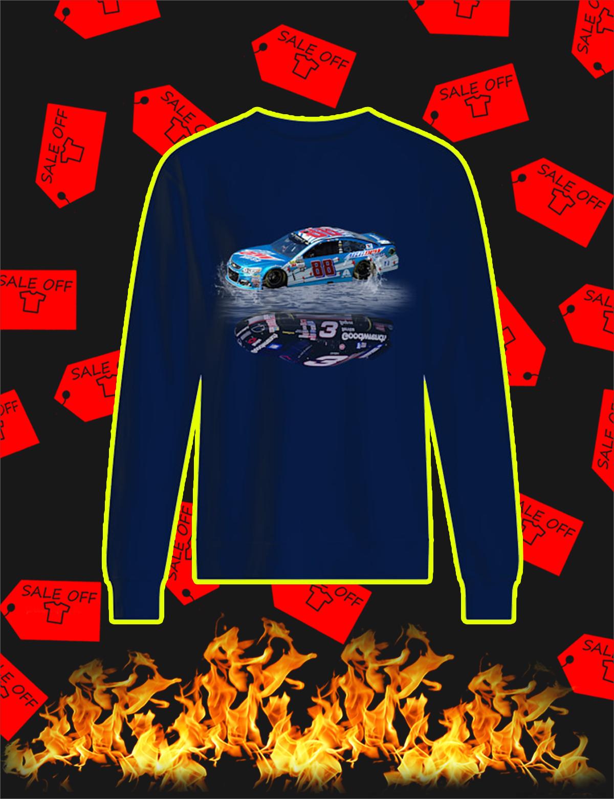 Nascar Car Number 88 Reflection Car Number 3 Sweatshirt