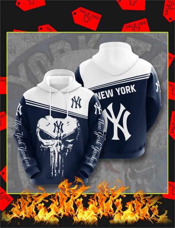 New York Yankees Punisher Skull 3D Hoodie