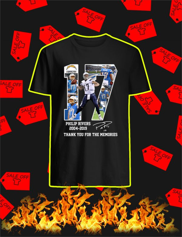 Philip Rivers 2004 2019 Thank You For The Memories shirt