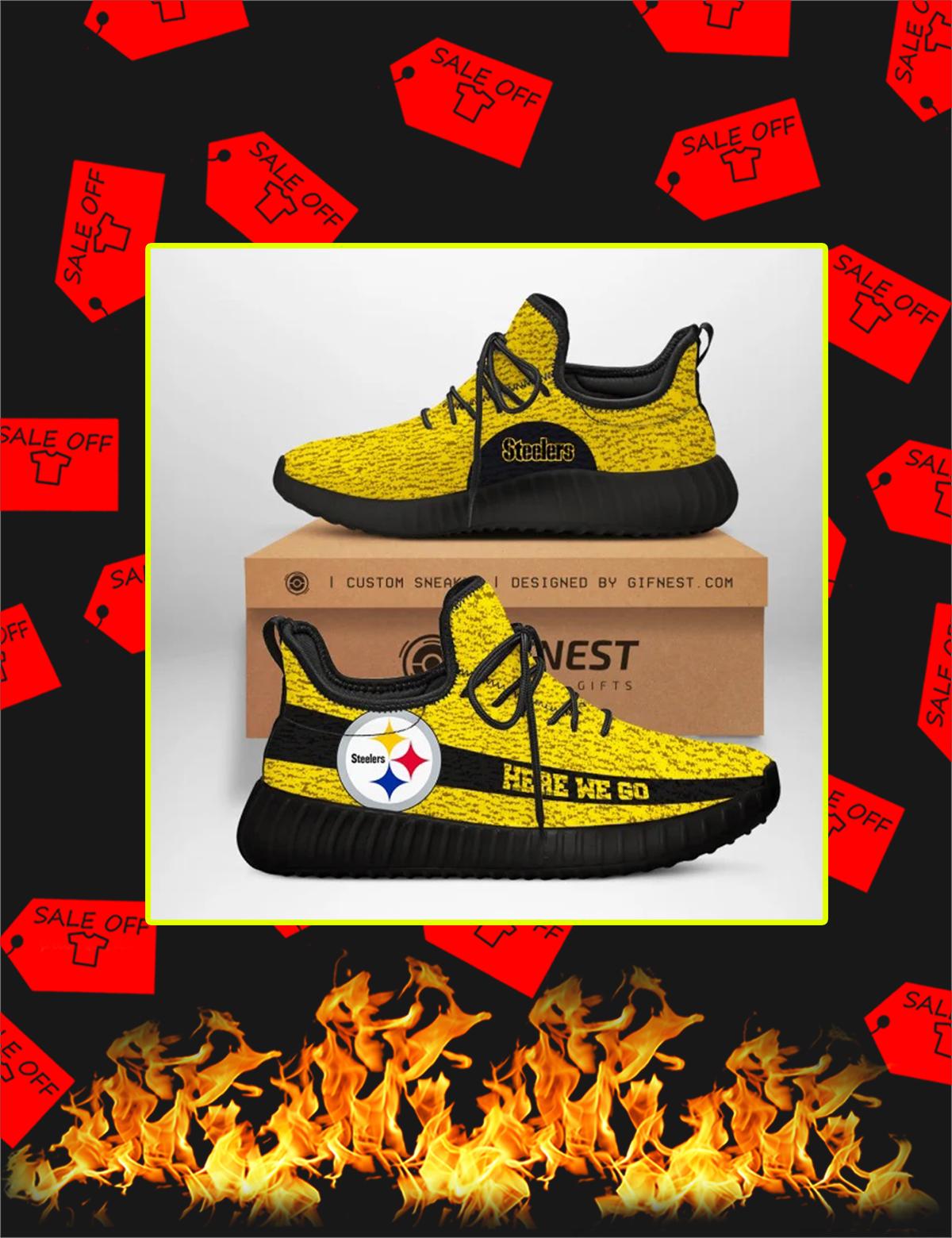 Pittsburgh Steelers NFL Yeezy Sneaker - Picture 1