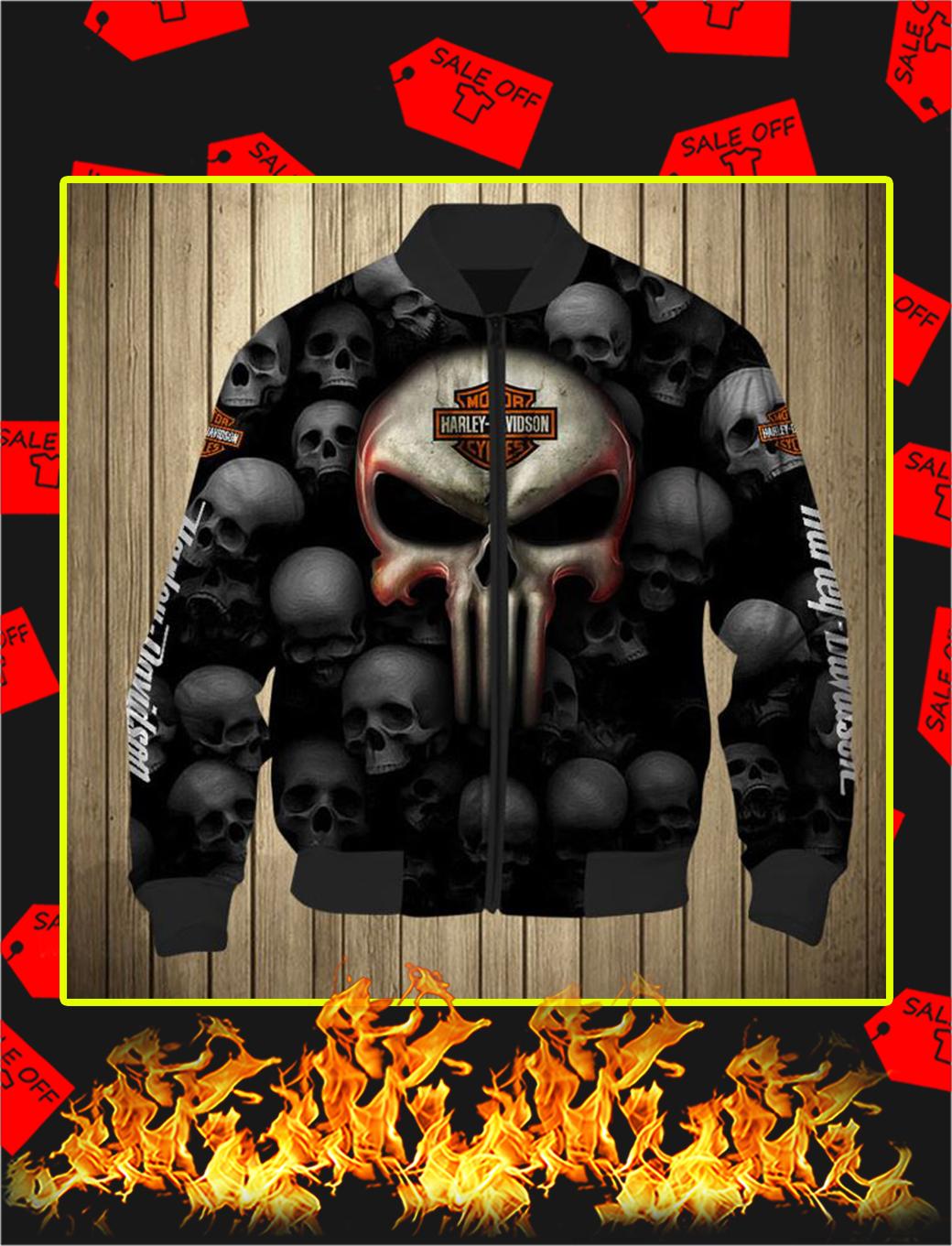Punisher Skull Harley Davidson Motorcycle 3D Full Printing Bomber