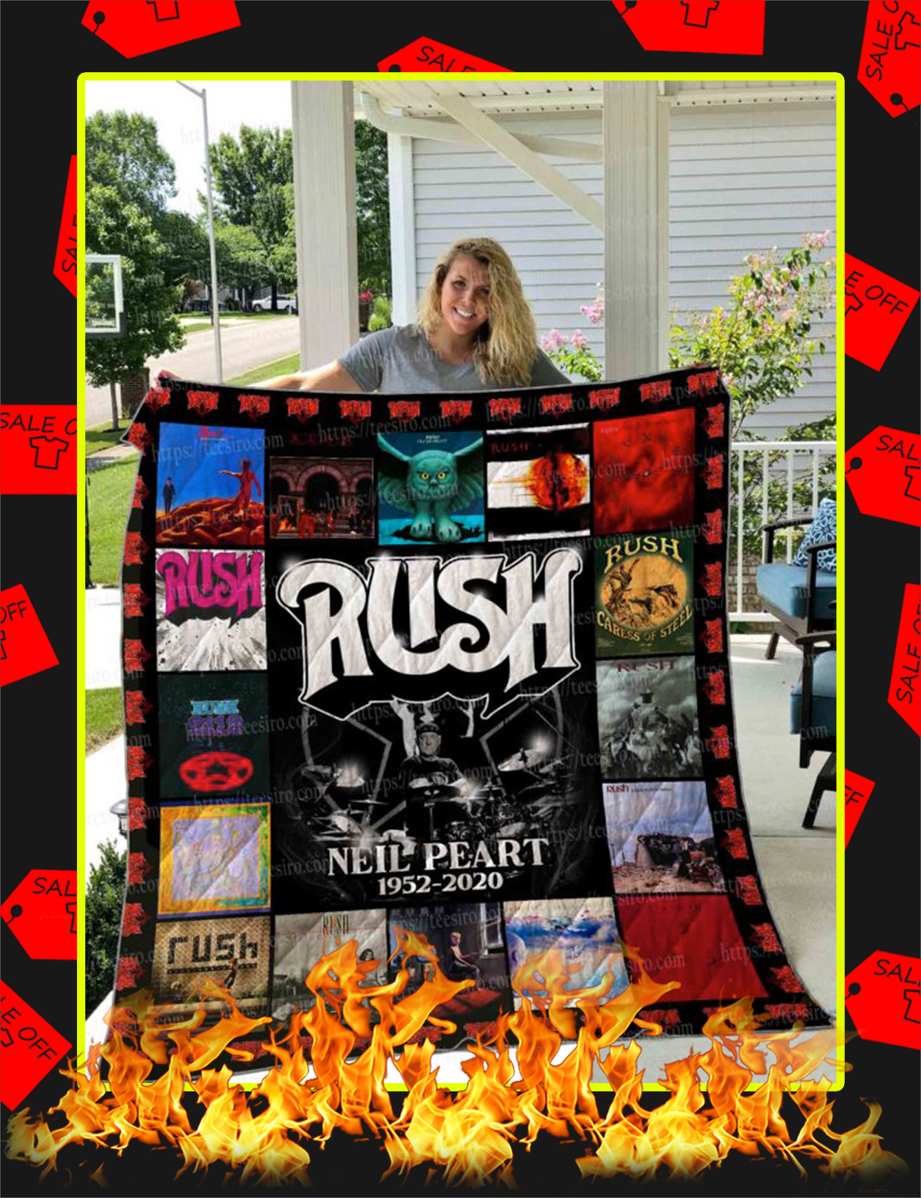 Rush Neil Peart Quilt Blanket - Super King