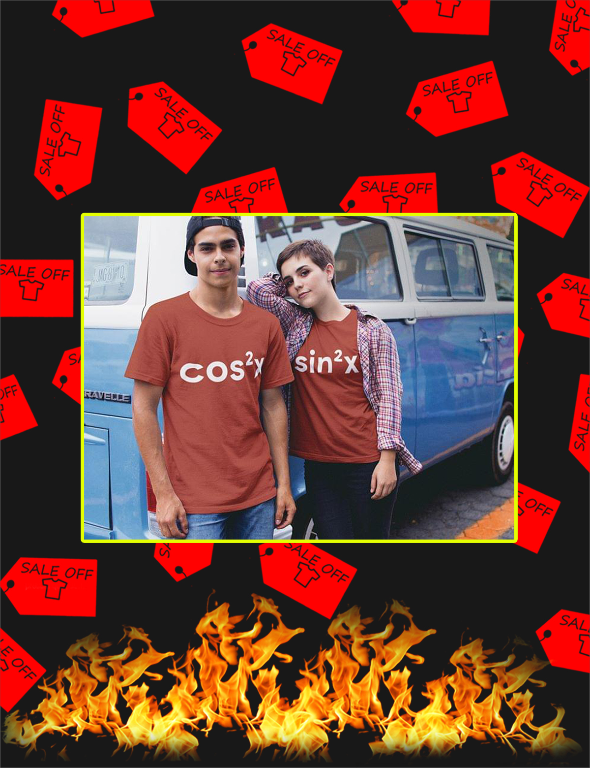 Sin Cos Couple Shirt - Picture 1