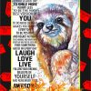 Sloth Today Is A Good Day Poster