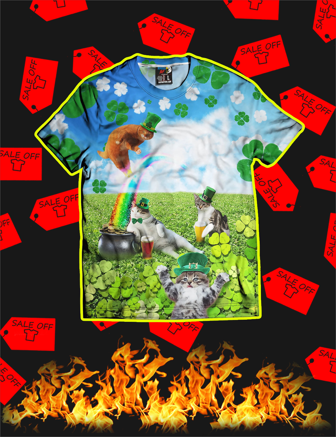 St Catrick's Day All Over Print T-shirt