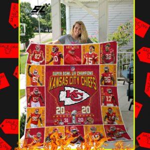Super Bowl LIV Champions Kansas City Chiefs Quilt Blanket