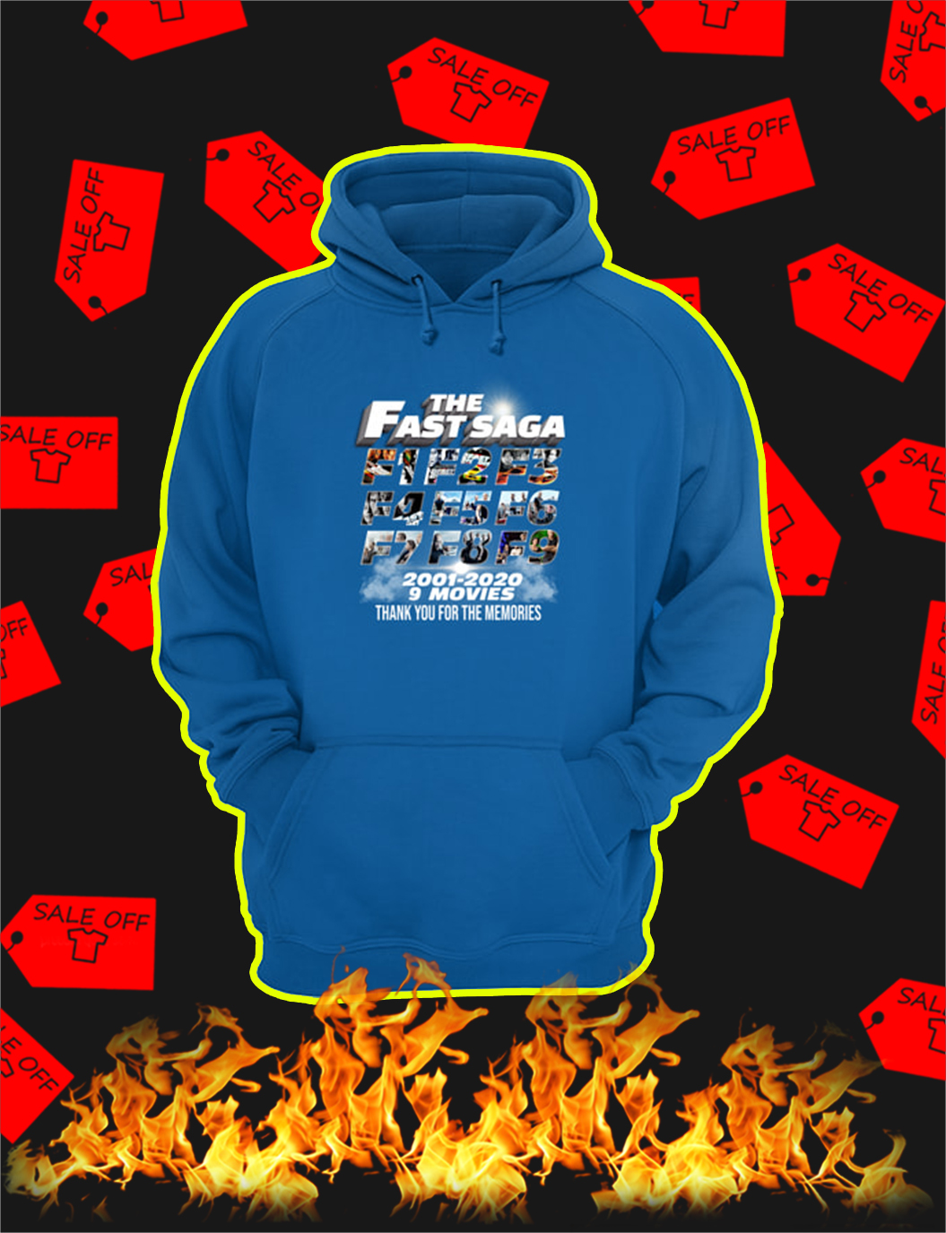 The Fast Saga 2001 2020 Thank You For The Memories hoodie